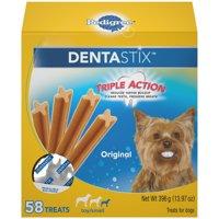 PEDIGREE DENTASTIX Toy/Small Dental Dog Treats Original, 13.97 oz. (58 Treats)