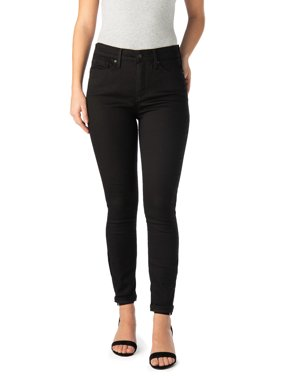 Signature by Levi Strauss & Co. Women's High Rise Ankle Skinny Cuff Jeans