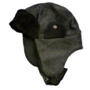 91c90d4e1589b Ben Berger Boys Black   Gray Micro-Fleece Trapper Hat Winter Aviator Beanie