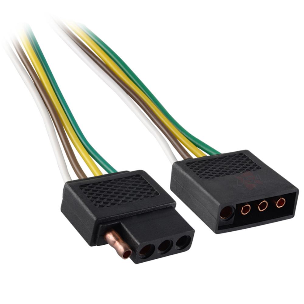 TruePower Trailer Connector Adapter 7-Way to 5-Way Pin Flat Blade Light Adapter