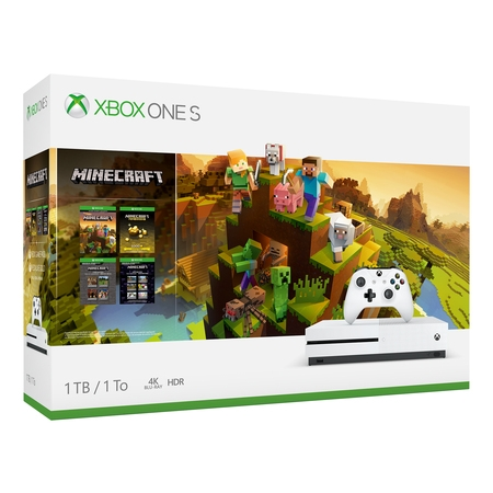 Microsoft Xbox One S 1TB Minecraft Creators Bundle, White,