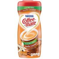 (6 Pack) Nestle Coffeemate Sugar Free Vanilla Caramel Powder Coffee Creamer 10.2 oz. Canister