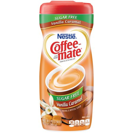 (3 pack) COFFEE MATE Sugar Free Vanilla Caramel Powder Coffee Creamer 10.2 oz. Canister
