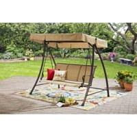 Mainstays Wesley Creek Sling Swing with Canopy, Seats 3
