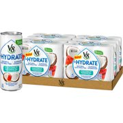 (24 Cans)V8 +Hydrate Plant-Based Hydrating Beverage, Coconut Watermelon, 8 Oz