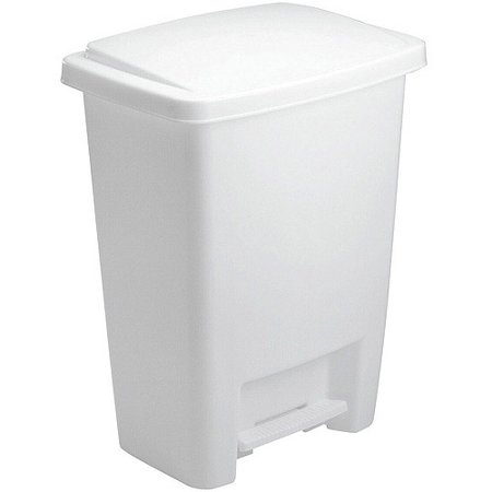 Best of Trash Can With Step On Lid