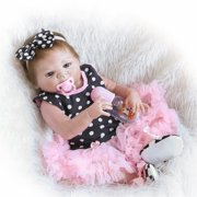 Reborn Baby Doll Soft Silicone vinyl 22inch 55cm Lovely Lifelike Cute Baby Birthday gift Christmas gift