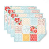 The Pioneer Woman Diamond Patchwork Reversible Placemats, Set of 4