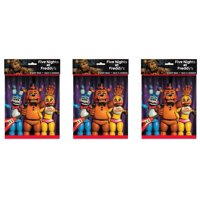 (5 Pack) Plastic Five Nights at Freddy's Goodie Bags, 9 x 7 in, 8ct