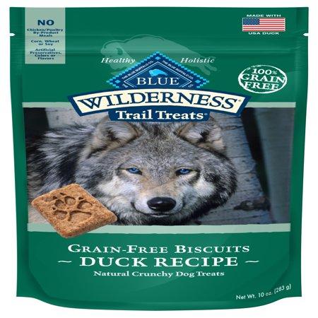 Blue Buffalo Wilderness Trail Treats Grain Free Crunchy Dog Treats Biscuits, Duck Recipe, 10-oz bag