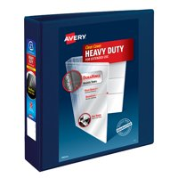 """Avery 2"""" Heavy-Duty View Binder, One-Touch Rings, Navy Blue"""