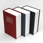 Zimtown Mini Dictionary Design Money Box Storage Hidden Secret Valuables Safety Security Lock