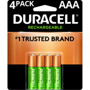Duracell 1.5V Rechargeable AAA Batteries 4 Pack