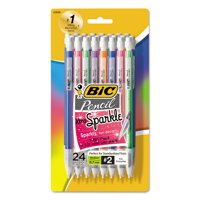 Bic Xtra-Sparkle Mechanical Pencil, Medium Point (0.7mm), Assorted Barrel Colors, 24 Count