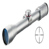 Simmons 39X 32mm A/O .22 Mag Silver Riflescope with Rings