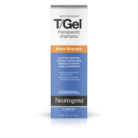 Neutrogena T/Gel Extra Strength Therapeutic Dandruff Shampoo, 6 fl. - Neutrogena Coal Tar Shampoo