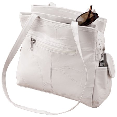 White Patch Leather Handbag