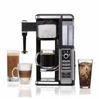 Ninja Single-Serve, Pod-Free Coffee Maker Bar with Hot and Iced Coffee, Auto-iQ, Built-In Milk Frother, 5 Brew Styles, and Water Reservoir (CF111) (Certified Refurbished)