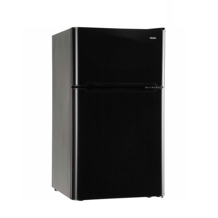 Haier 3.2 Cu Ft Two Door Refrigerator with Freezer HC32TW10SV, Black (Haier White Refrigerator)