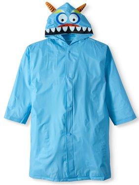 Monster Hooded Rain Slicker Jacket (Little Boys)