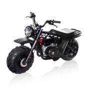 mega moto 212cc gas powered mini bike -pro with headlight