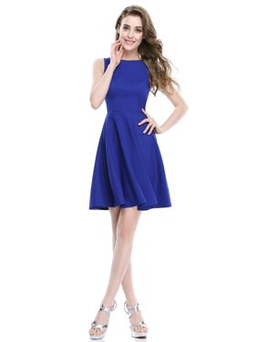 ba73625fdb5 Product Image Alisa Pan Womens Simple Fit and Flare Sleeveless Short  Wedding Guest Party Casual Summer Dresses for. Ever-pretty