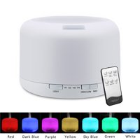 110V 500ML Aroma Essential Oil Diffuser, 7 Color Lights Cool Mist Humidifier for Office Home Study Yoga Spa