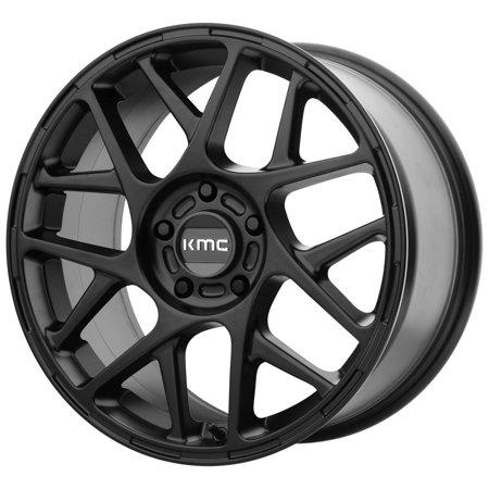 KMC KM708 Bully 17x8 5x110 +38mm Satin Black Wheel Rim 17