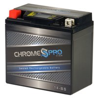 YTX14-BS Chrome Pro Series High Performance iGel Powersport Battery
