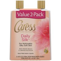 Caress Daily Silk Body Wash, 18 oz, Twin Pack