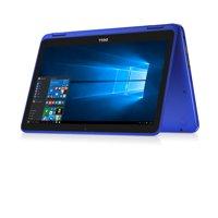 Dell - Inspiron 11 3000 2-in-1 Blue, 11.6-inch HD, Intel Pentium Processor N3710, 4GB 1600MHz DDR3L, 500GB 5400 RPM Hard, Intel HD Graphics