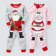 e981bf6da5 Christmas Baby Kids Boys Girls Santa Claus Sleepwear Nightwear Pajamas Set  0-5Y