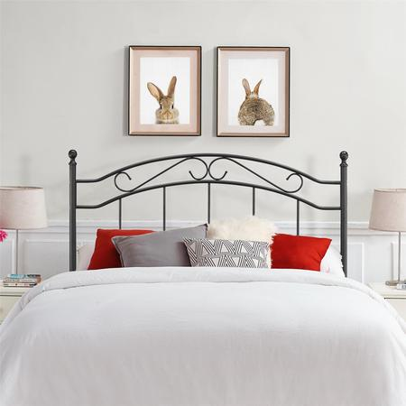 Mainstays Full/Queen Metal Headboard, Multiple (Stained Full Headboard)