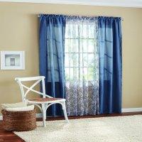 Mainstays Luna Curtain Panel, 4 Piece Set