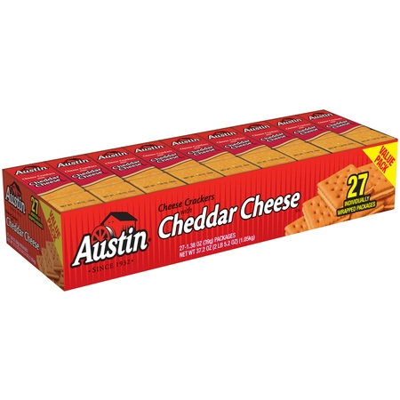 Austin Cheese Crackers with Cheddar Cheese Sandwich Crackers, 1.38 Oz., 27 - Croissant Sandwich