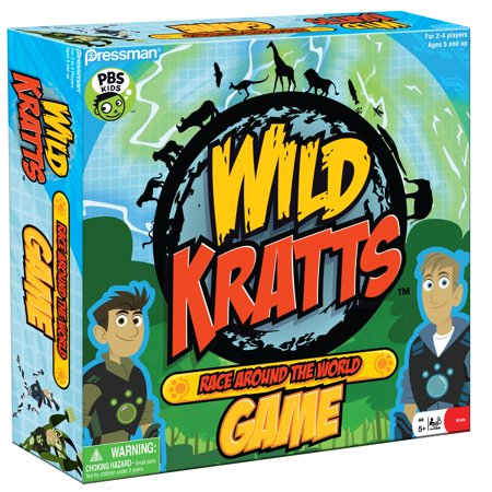 Pressman Toy Wild Kratts Race Around the World (Games To Play Around The Table At Christmas)