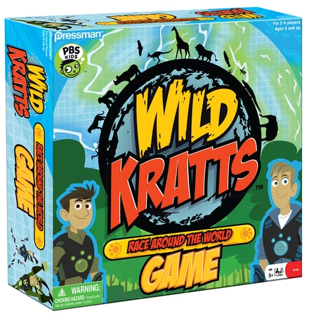 Pressman Toy Wild Kratts Race Around the World (Premium Wild Game)