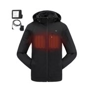 23f2e2adc3 COLCHAM Heated Jackets for Men Slim Fit Soft Shell Winter Jacket with  Battery and Charger