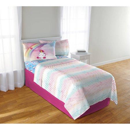 Minion Sheet Set (Despicable Me Minions Fluffy The Unicorn Fluffy Rainbows Kids Bedding Sheet)