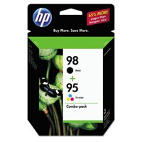 HP 98 Black/95 Tri-color Original Ink Cartridges, 2 pack (CB327FN)