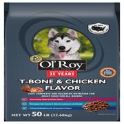Ol' Roy T-Bone & Chicken Flavor Dry Dog Food, 50 lb