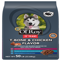 Ol' Roy T-Bone & Chicken Flavor Dry Dog Food, 50 lb