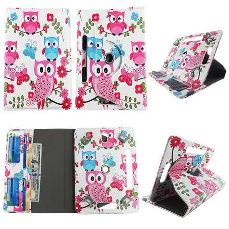 Blue Pink Owl Butterfly tablet case 8 inch  for Digiland  8