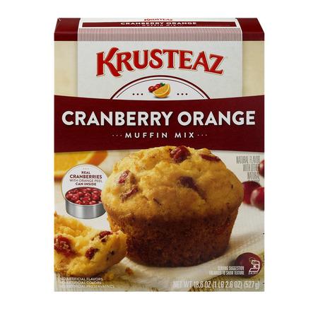 (5 Pack) Krusteaz Supreme Muffin Mix, Cranberry Orange, 18.6oz Box Cranberry Orange Scone Mix
