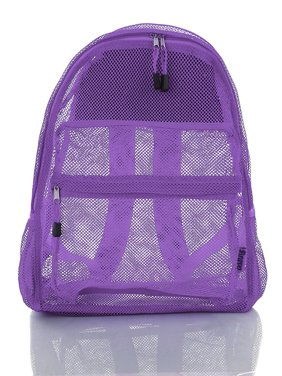 Clear Mesh Backpack For Kids Men Women Transparent/See Through