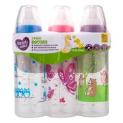 Parent's Choice Baby Bottles, 9 fl oz, 3 Count - Colors May Vary