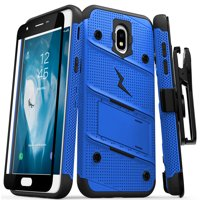 Zizo Bolt Series Compatible with Galaxy J7 2018 Case Military Grade Drop Tested with Tempered Glass Screen Protector Holster Galaxy J7 Refine J7 Star