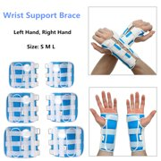 Breathable Medical Carpal Tunnel Wrist Brace Right and Left Hands Splint Support Arthritis Sprain Gym Hand Protector 3 Straps Adjustable Removable Aluminum Strips