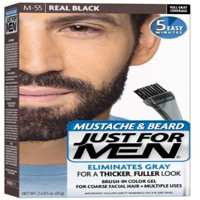 JUST FOR MEN Color Gel Mustache & Beard M-55 Real Black 1 Each (Pack of 2)