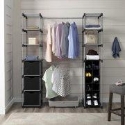 Mainstays Closet Organizer, 2-Tower 9-Shelves, Easy to Assemble, Black